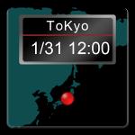 Androidアプリ「世界地図時計」をリリースしました。